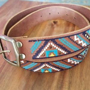 LUCKY BRAND Aztec Design Belt
